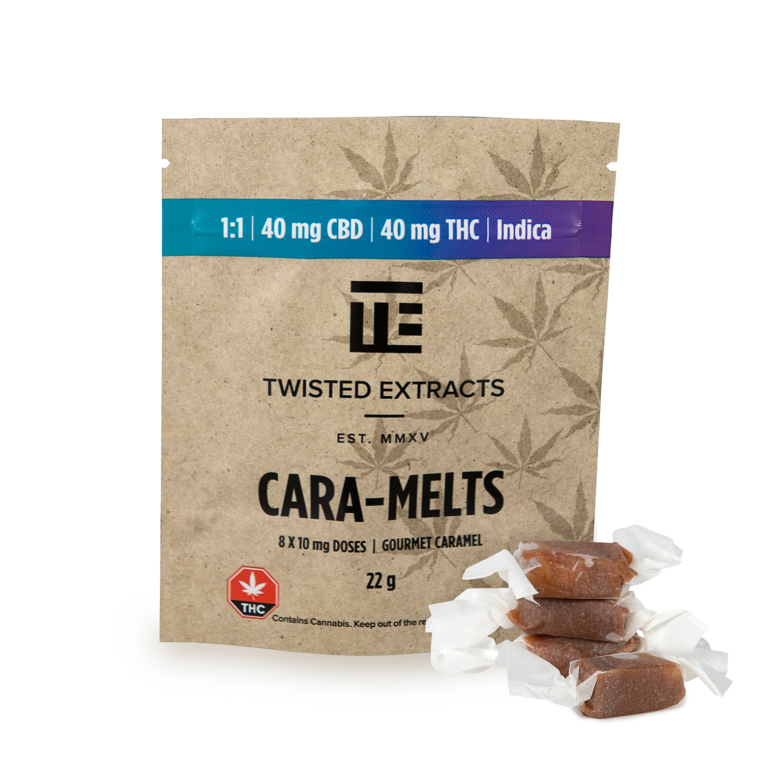 1 1 Indica Caramel Candies Twisted Extract Edibles Medicinal Express